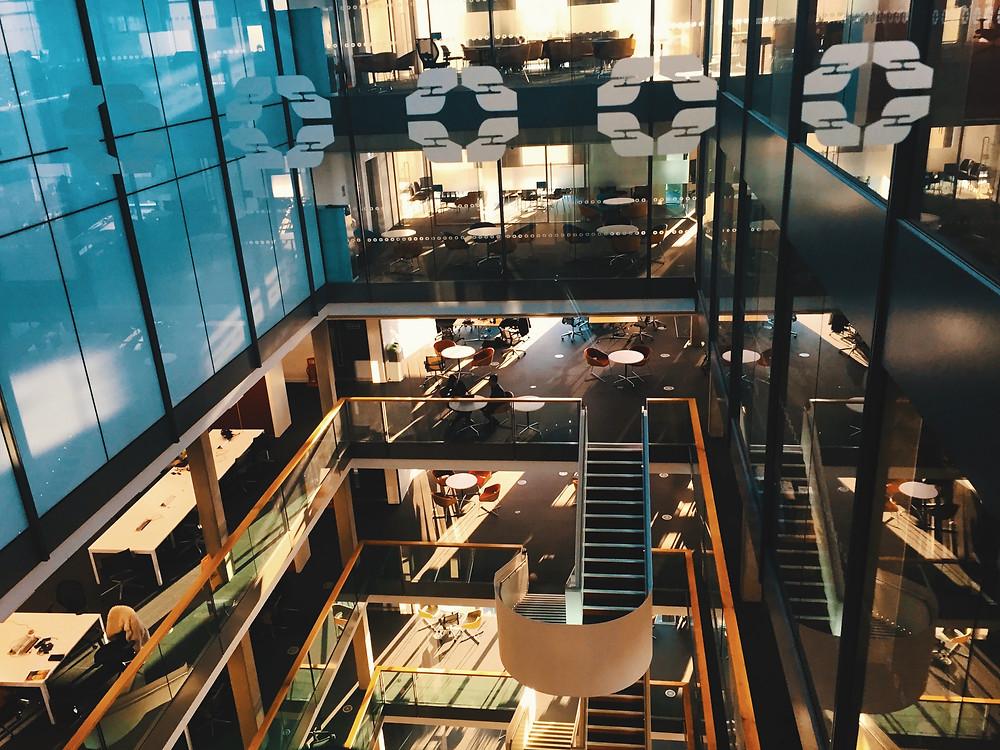 a view of an open plan office