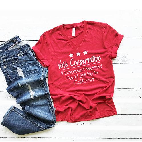 Vote Conservative women's T Shirt