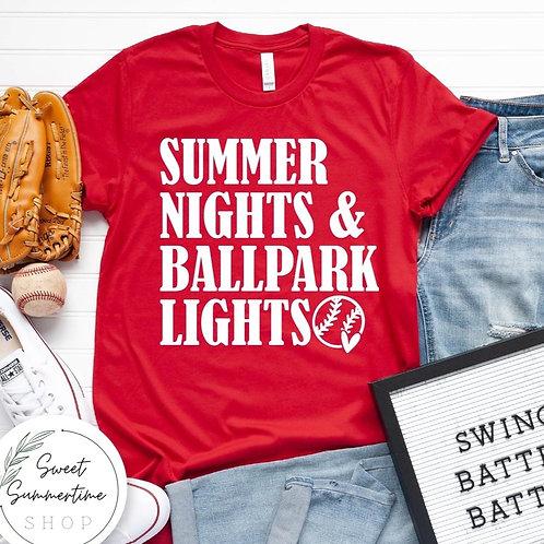Ballpark lights shirt