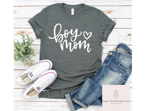 Boy Mom heart Shirt