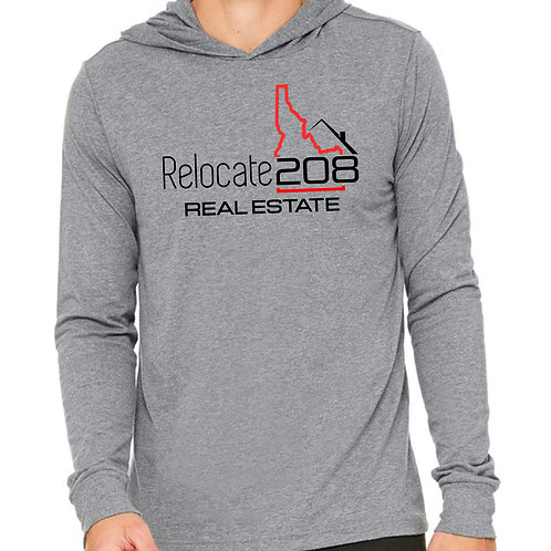 Relocate 208 Real Estate Unisex  Hooded T Shirt