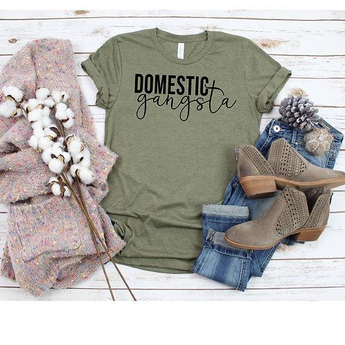 Domerstic Gangsta Womens T Shirt