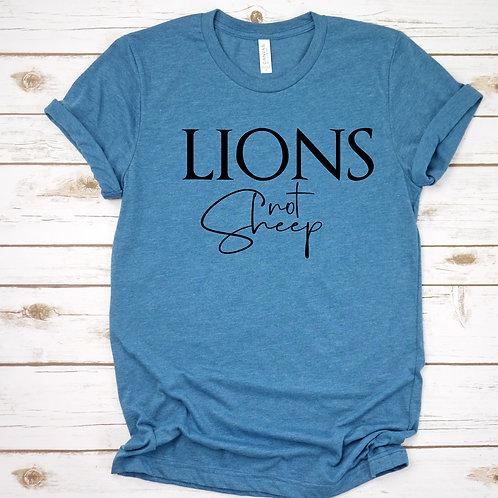 Lions not sheep Womens T shirt