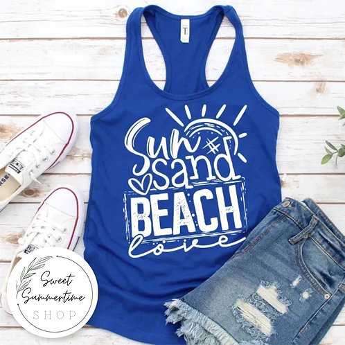 Sun Sand Beach Tank Top