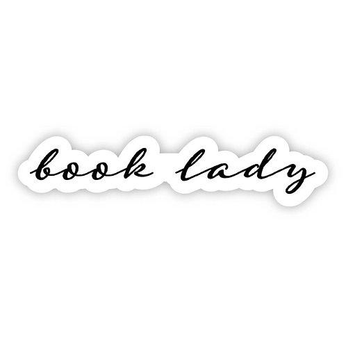 Book lady Sticker