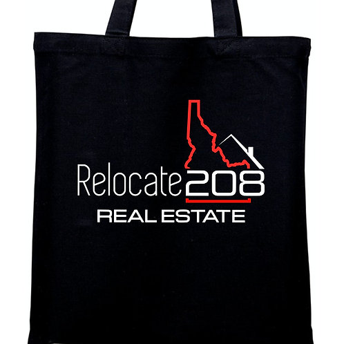 Relocate 208 Canvas gusset bottom Tote Bag