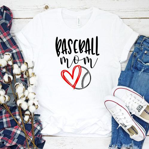 Baseball Mom - Baseball heart - Women's T Shirt