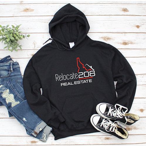 Relocate 208 Real Estate Unisex Hooded Sweatshirt