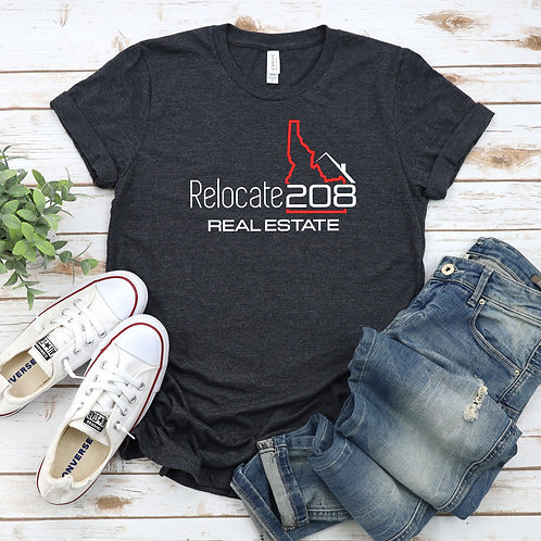 Relocate 208 Real Estate Unisex T Shirt
