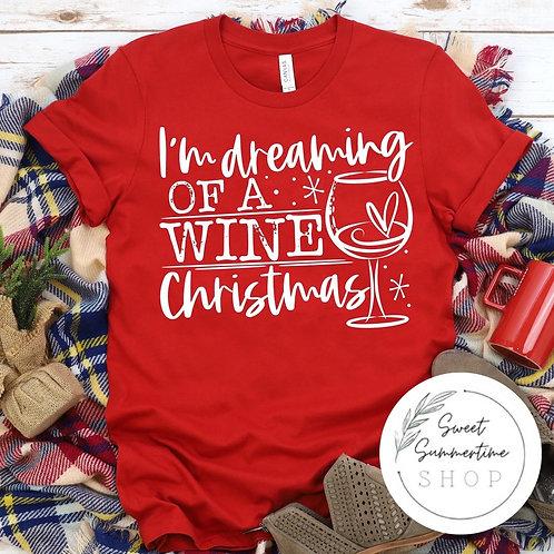 Wine christmas tee shirt