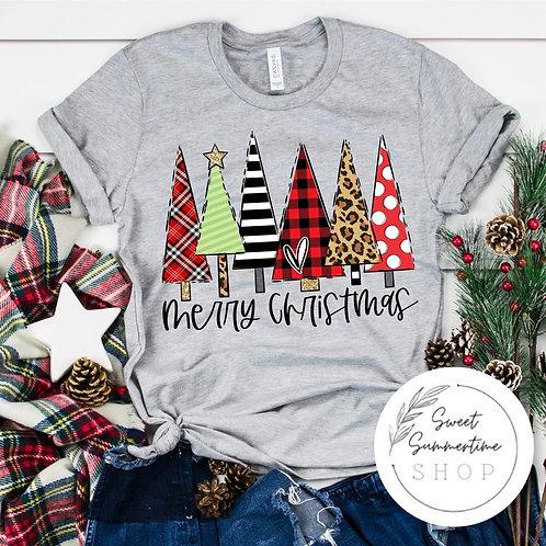 Christmas trees tee or sweatshirt