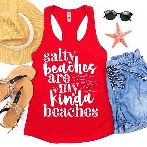Salty beach ard my kinda beaches Tank Top