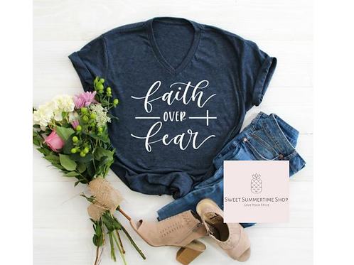 Faith over Fear Cross Shirt