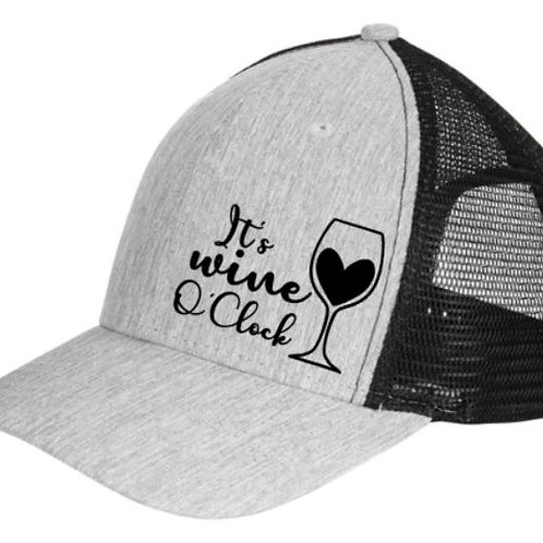 It's Wine O'Clock - Trucker hat