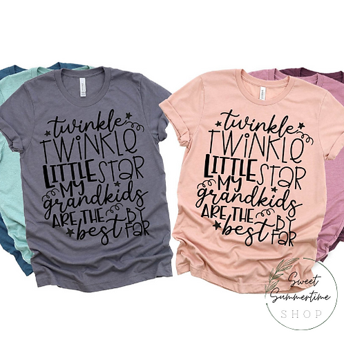 Twinkle Twinkle Grandparent Shirt