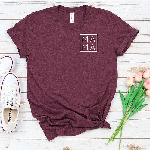 Mama monogram T shirt - mom life - Womens T Shirt