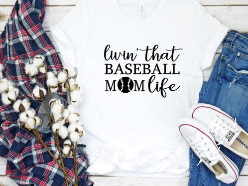 Baseball Mom Women's T Shirt