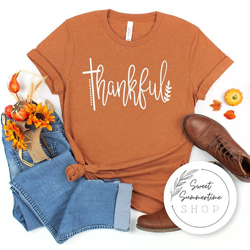 Thankful fall tee shirt