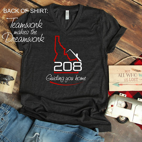 Relocate 208 Unisex T Shirt with Tagline on the back