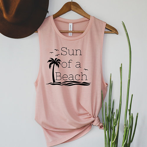 Sun of a Beach Tank - T shirt - Racerback - Muscle Tank
