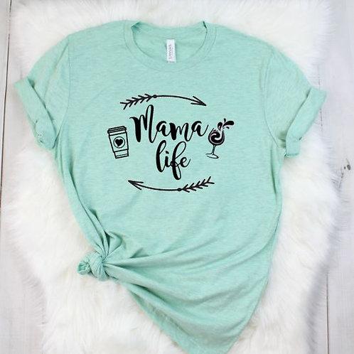 Mama Life Coffee to Wine - Mom Life- Women's T Shirt