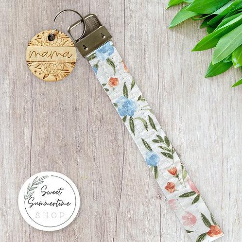 Mama Floral Keychain Wristlet