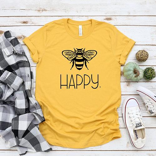 Bee Happy womens T Shirt