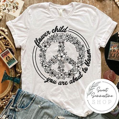 Flower child tee shirt