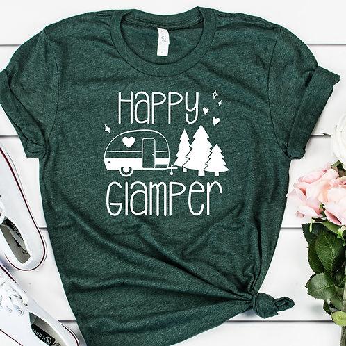 Happy Glamper  womens t shirt