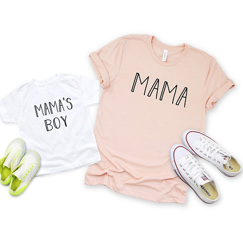 Mama and Mama's Boy - Matching Mommy and me set - Mother's Day