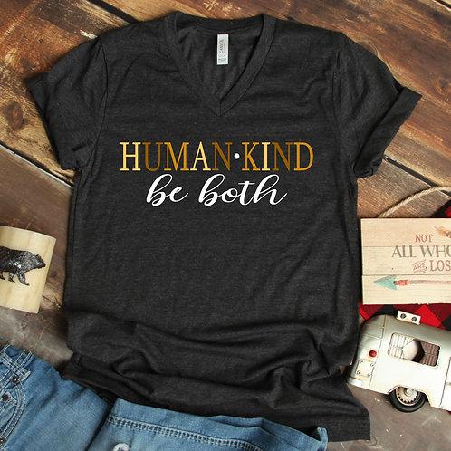 Human Kind - Be Both - Unity - Unisex  T Shirt