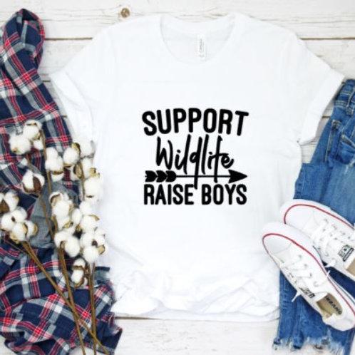 Support Wildlife Raise Boys - momlife- Women's T Shirt