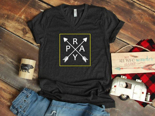 Pray with Arrows women's T Shirt