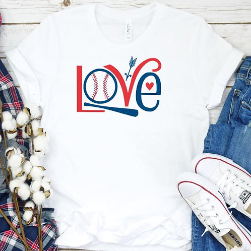 Baseball Love - Baseball Mom - Softball Mom Women's T Shirt