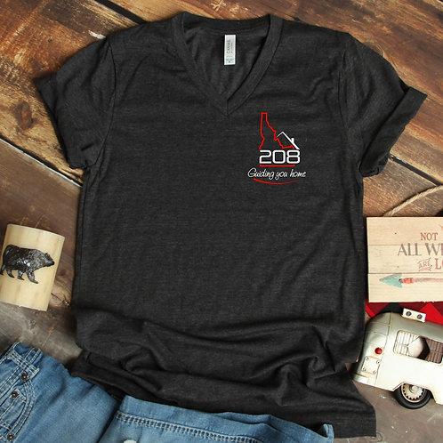 Relocate 208 Guiding You Home small logo Unisex T Shirt