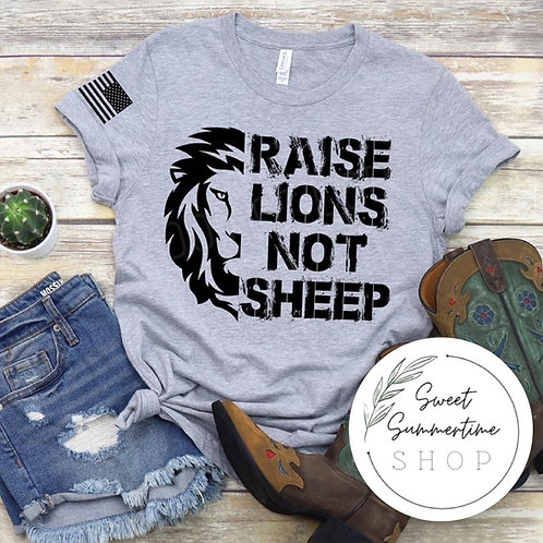 Raise lions tee shirt