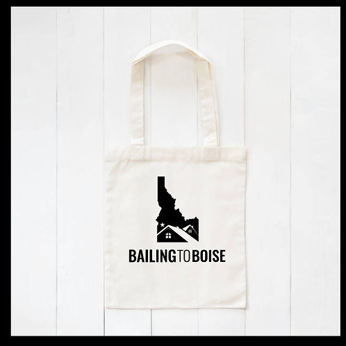 Bailing to Boise Canvas Tote Bag