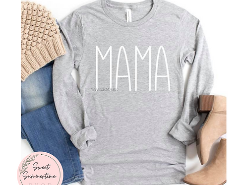 Mama Simple Font Shirt