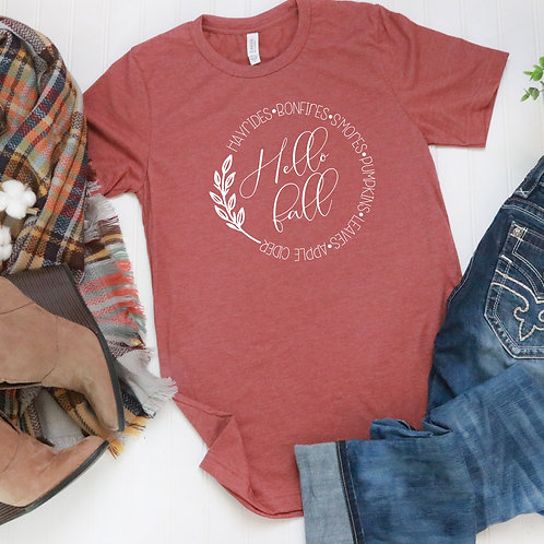 Hello Fall T Shirt