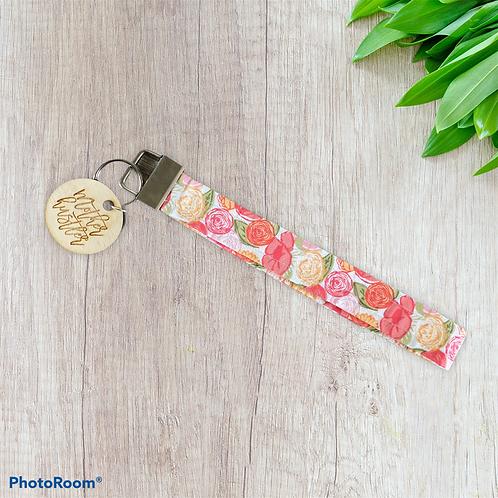 Mother Hustler Floral Keychain Wristlet