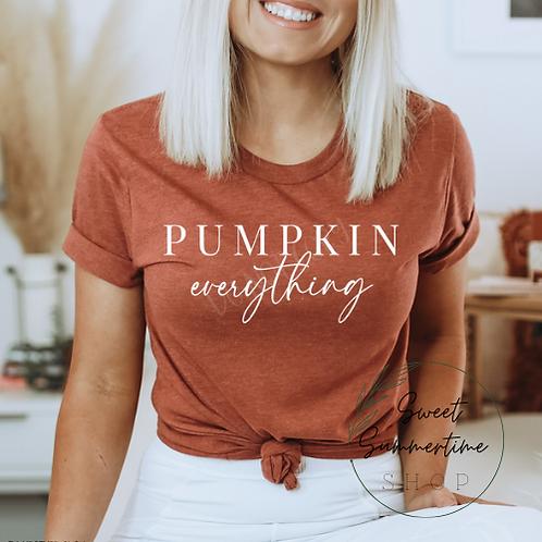 Pumpkin Everything tee shirt