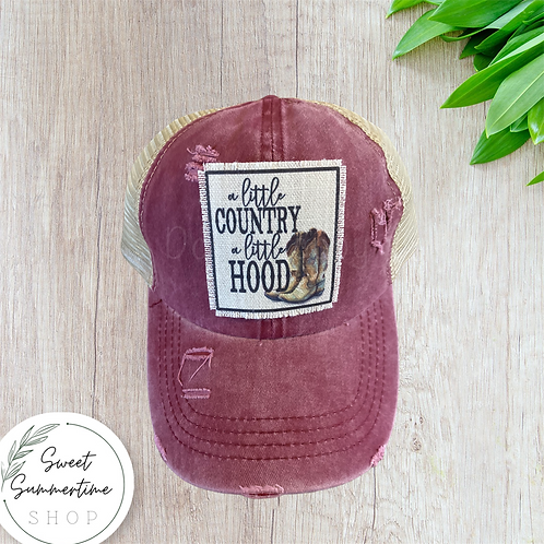 A little country a little hood patch hat