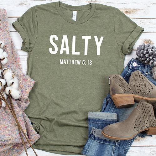 Salty Matthew 5:13 Bible Verse Christian t shirt
