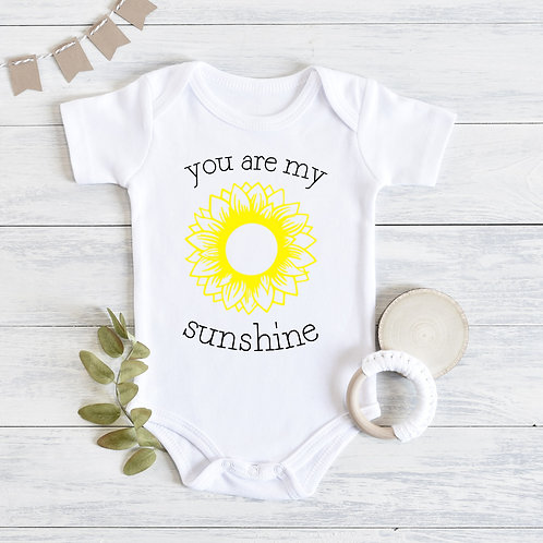 You Are My Sunshine Baby Outfit with Sunflower