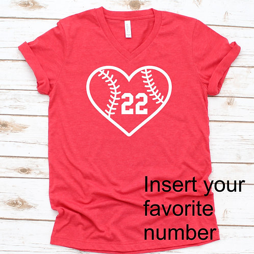 Baseball Heart - baseball-  Women's T Shirt