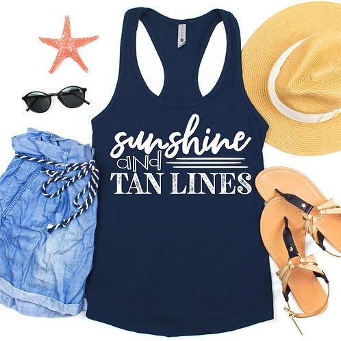Sunshine and tan lines Tank Top