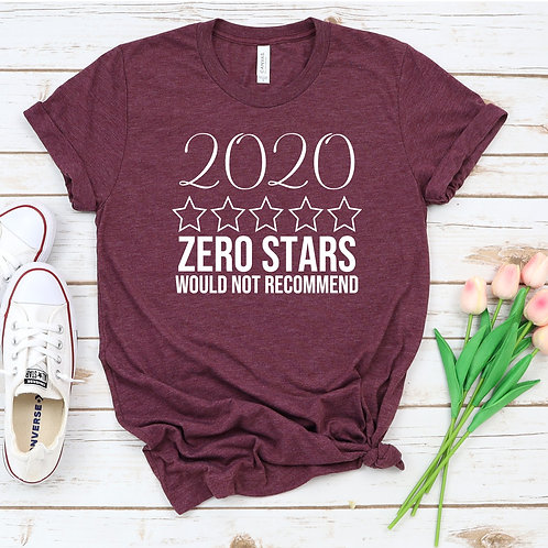 2020 Zero Stars Would Not Recommend Women's T Shirt