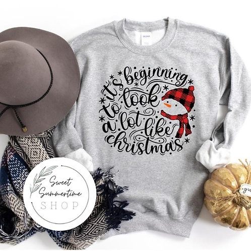 Christmas Snowman tee or sweatshirt