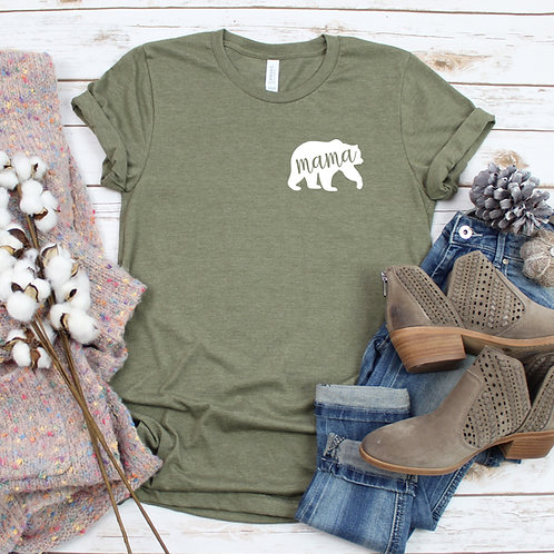 Mama Bear with small bear icon -  T Shirt