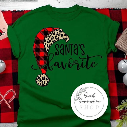 Santa's Favorite tee shirt